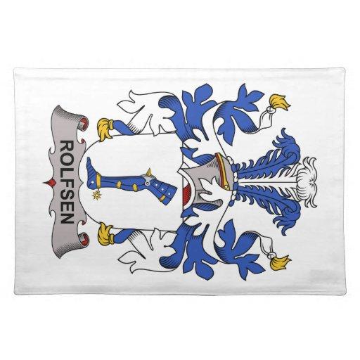 Escudo de la familia de Rolfsen Mantel Individual