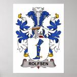 Escudo de la familia de Rolfsen Poster