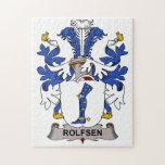 Escudo de la familia de Rolfsen Rompecabeza