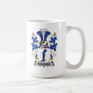 Escudo de la familia de Rolfsen Tazas De Café