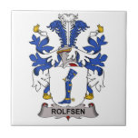 Escudo de la familia de Rolfsen Tejas Ceramicas