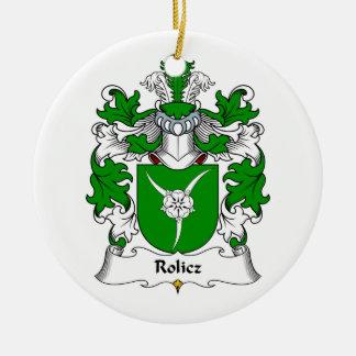 Escudo de la familia de Rolicz Ornamento Para Arbol De Navidad