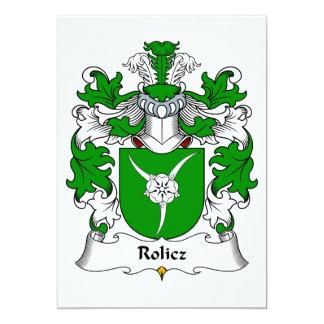 Escudo de la familia de Rolicz Comunicado Personal