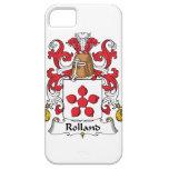 Escudo de la familia de Rolland iPhone 5 Coberturas