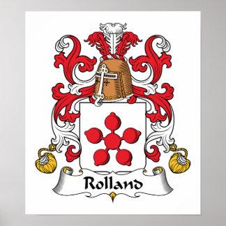Escudo de la familia de Rolland Póster