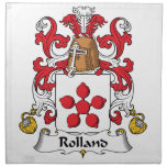 Escudo de la familia de Rolland Servilletas Imprimidas