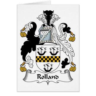 Escudo de la familia de Rolland Tarjeta