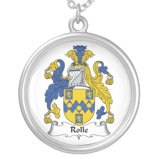 Escudo de la familia de Rolle Collar Plateado