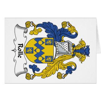 Escudo de la familia de Rolle Tarjeta De Felicitación