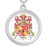Escudo de la familia de Rollet Pendientes