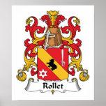 Escudo de la familia de Rollet Poster