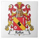Escudo de la familia de Rollet Tejas Cerámicas