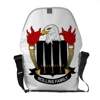 Escudo de la familia de Rollins Bolsa De Mensajeria