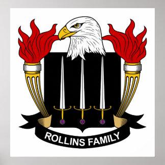 Escudo de la familia de Rollins Impresiones