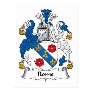 Escudo de la familia de Roma Tarjeta Postal