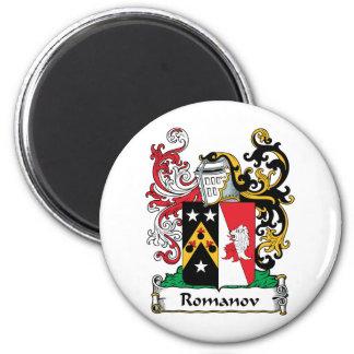 Escudo de la familia de Romanov Imán Redondo 5 Cm