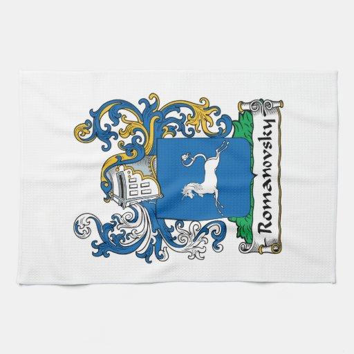 Escudo de la familia de Romanovsky Toallas De Cocina