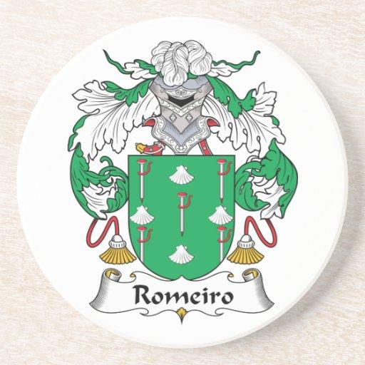 Escudo de la familia de Romeiro Posavaso Para Bebida