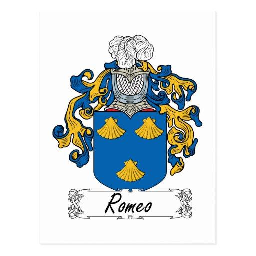 Escudo de la familia de Romeo Postales