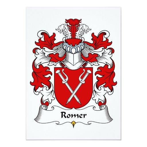 Escudo de la familia de Romer Invitación 12,7 X 17,8 Cm
