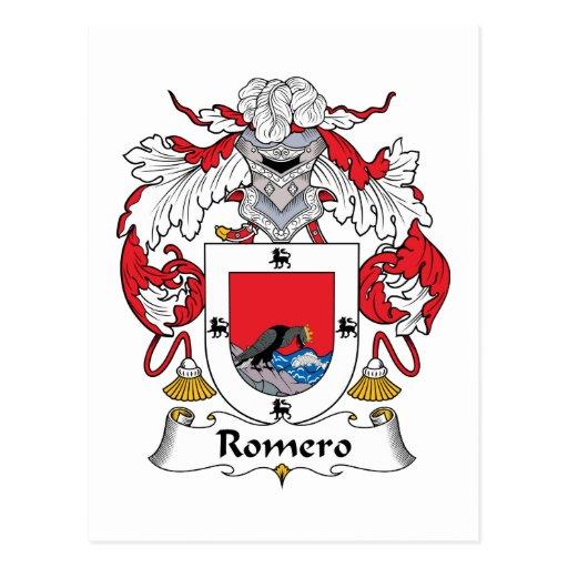 Escudo de la familia de Romero Postales