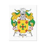 Escudo de la familia de Romo Lona Estirada Galerias