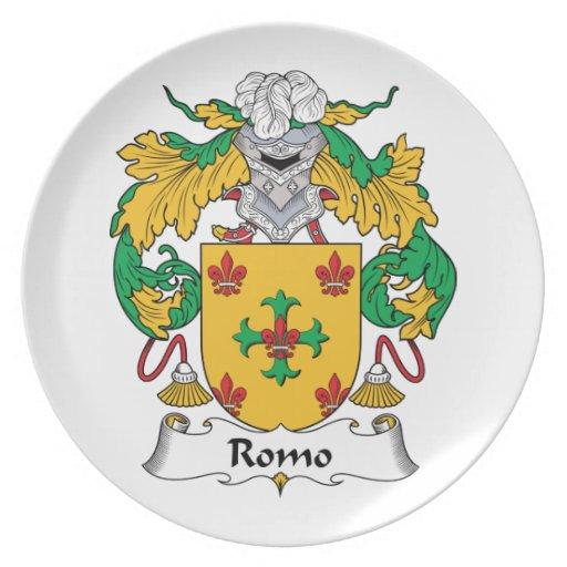 Escudo de la familia de Romo Platos De Comidas