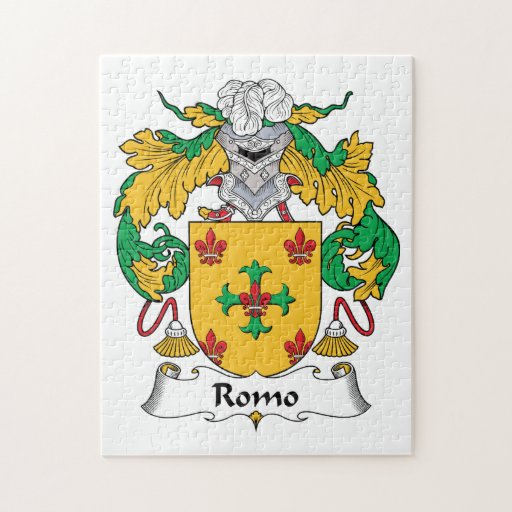 Escudo de la familia de Romo Rompecabezas Con Fotos