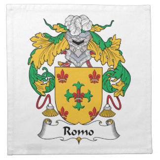 Escudo de la familia de Romo Servilletas De Papel