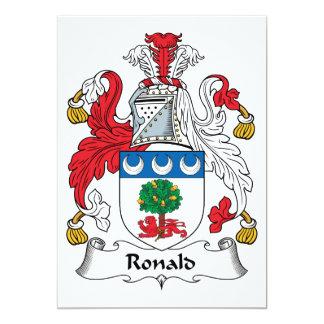 """Escudo de la familia de Ronald Invitación 5"""" X 7"""""""