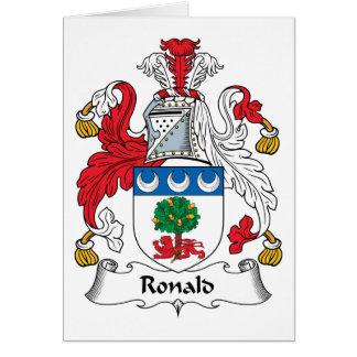 Escudo de la familia de Ronald Tarjeta De Felicitación
