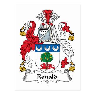 Escudo de la familia de Ronald Tarjetas Postales