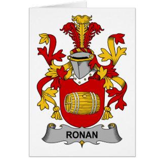 Escudo de la familia de Ronan Tarjeta De Felicitación