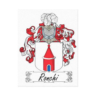 Escudo de la familia de Ronchi Impresión En Lienzo Estirada