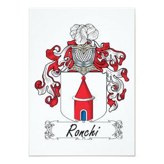 """Escudo de la familia de Ronchi Invitación 5"""" X 7"""""""