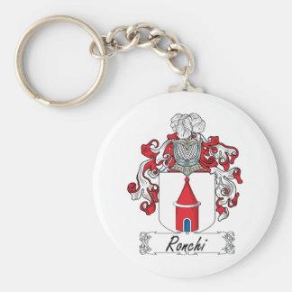 Escudo de la familia de Ronchi Llavero Redondo Tipo Pin