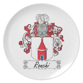 Escudo de la familia de Ronchi Plato De Cena