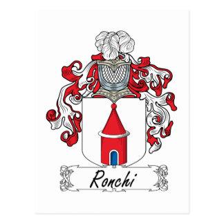 Escudo de la familia de Ronchi Postales