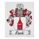 Escudo de la familia de Ronchi Posters