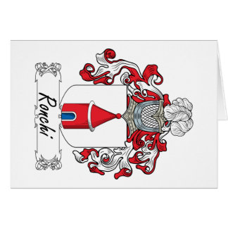 Escudo de la familia de Ronchi Tarjeta De Felicitación