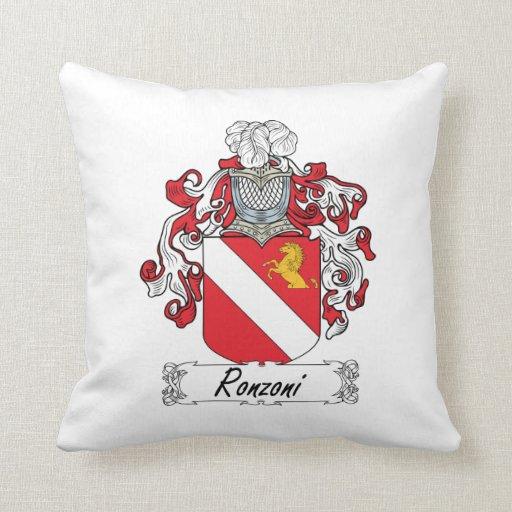 Escudo de la familia de Ronzoni Cojines