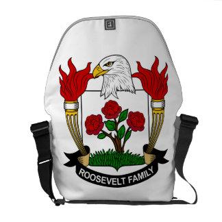 Escudo de la familia de Roosevelt Bolsas Messenger