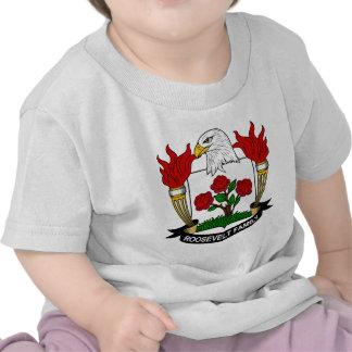 Escudo de la familia de Roosevelt Camisetas