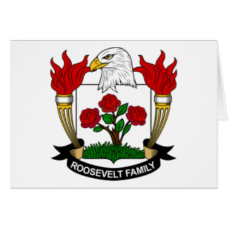 Escudo de la familia de Roosevelt Tarjetas