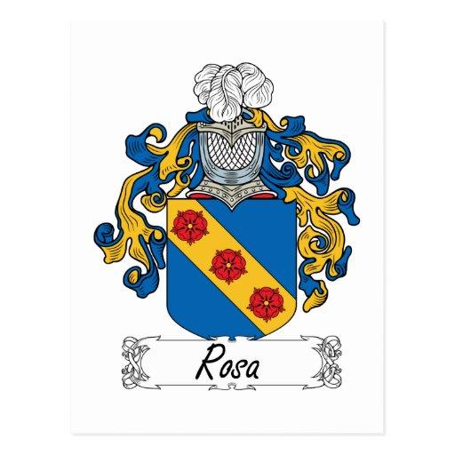 Escudo de la familia de Rosa Postal