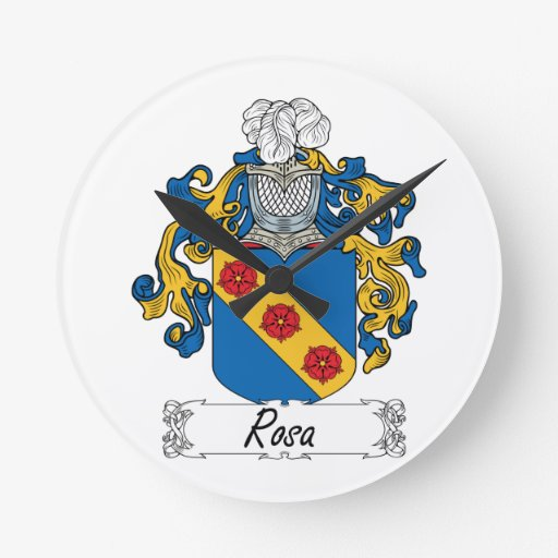 Escudo de la familia de Rosa Reloj Redondo Mediano
