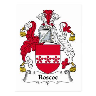 Escudo de la familia de Roscoe Postales