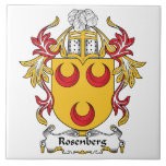 Escudo de la familia de Rosenberg Azulejo Cerámica