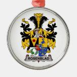 Escudo de la familia de Rosenblad Ornamento Para Arbol De Navidad