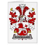 Escudo de la familia de Rosengaard Felicitación